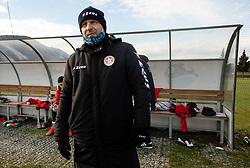 Oskar Drobne, head coach of Aluminij during friendly football match between NK Bravo and NK Aluminij before spring season of Prva liga Telekom Slovenije 2020/21, on January 20, 2021 in Terme Zrece, Slovenia.  Photo by Vid Ponikvar / Sportida