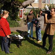 TV opname AVRO programma Gemma Glitter bij Marleen Rozema Korvet 7 Huizen