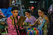 Sing I Lai Cung chinese opera troupe performs, without a stage, in Bangkok's Chinatown
