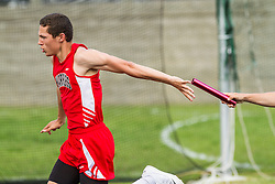 Maine State Track & Field Meet, Class B: boys 4x100 relay, 2nd exchange