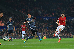 31st October 2017 - UEFA Champions League - Group A - Manchester United v SL Benfica - Nemanja Matic of Man Utd scores their 1st goal - Photo: Simon Stacpoole / Offside.