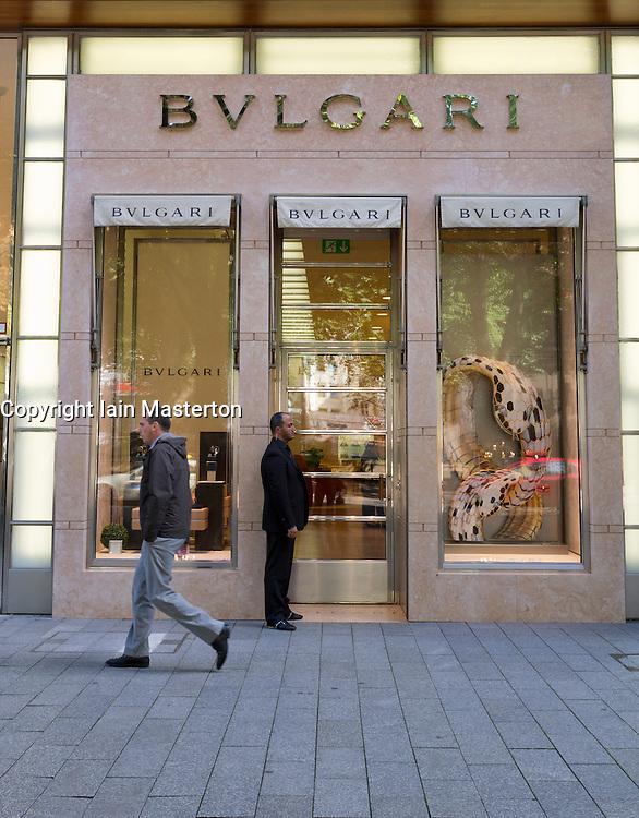 Bulgari upmarket fashion boutique shop on Konigsallee in Dusseldorf in Germany