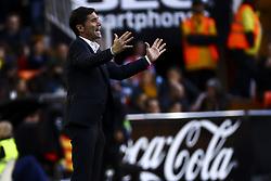 November 24, 2018 - Valencia, Spain - Head coach of Valencia CF Marcelino Garcia Toral. during la liga Match between Valencia CF and Rayo Vallecano a at Mestalla  Stadium on  November 24, 2018. (Credit Image: © Jose Miguel Fernandez/NurPhoto via ZUMA Press)