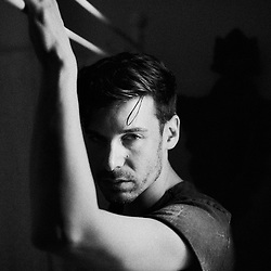 Parker Marx, an adult performer in the independent porn industry, posing in an apartment in Paris, France. December 6, 2017.<br /> Parker Marx, acteur dans le milieu du film pornographique independant, pose dans un appartement a Paris, France. 6 december 2017.