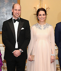 The Duke and Duchess of Cambridge attends Dinner at the Royal Palace, Oslo, Norway and the end of the third day of their tour of Scandinavia.