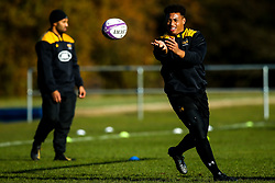 Gabriel Oghre of Wasps during training ahead of the European Challenge Cup fixture against SU Agen - Mandatory by-line: Robbie Stephenson/JMP - 18/11/2019 - RUGBY - Broadstreet Rugby Football Club - Coventry , Warwickshire - Wasps Training Session