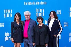 (L-R) Penelope Cruz, Pedro Almodovar, Julieta Serrano and Nora Navas attend the photocall of the movie 'Dolor y gloria' in Villa Magna Hotel, Madrid 12th March 2019. Photo by Alconada/Alterphotos/ABACAPRESS.COM