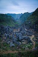 Dong Van Karstic Plateau in Ha Giang Province, Vietnam, Southeast Asia