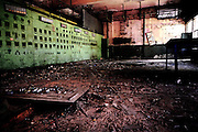 The Control Room of Union Carbide (now DOW Chemical) is lying in full disrepair inside their derelict industrial complex in Bhopal, Madhya Pradesh, central India, site of the infamous '1984 Gas Disaster'.