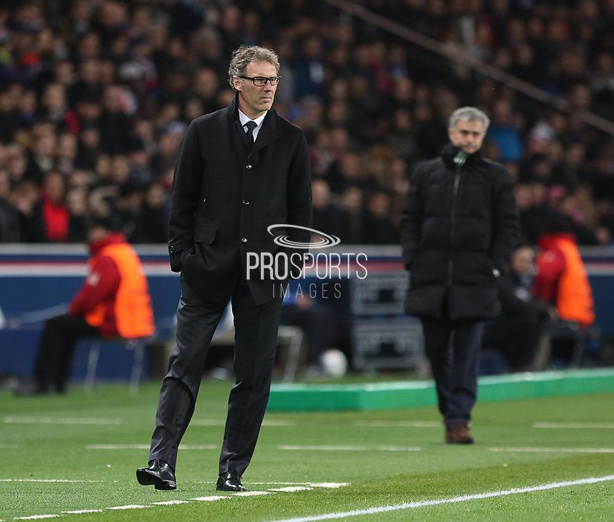 Paris Saint-Germain Manager Laurent Blanc during the Champions League match between Paris Saint-Germain and Chelsea at Parc des Princes, Paris, France on 17 February 2015. Photo by Phil Duncan.