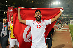 November 11, 2017 - Rades, Tunisia - Ferjani Sassi Tunisian players celebrate qualifying at the Russian World .....Qualifying match for the 2018 FIFA Russia World Cup at Rades Stadium between Tunisia and Libya..Tunisia qualifies for the Russian world after a draw 0/0. (Credit Image: © Chokri Mahjoub via ZUMA Wire)