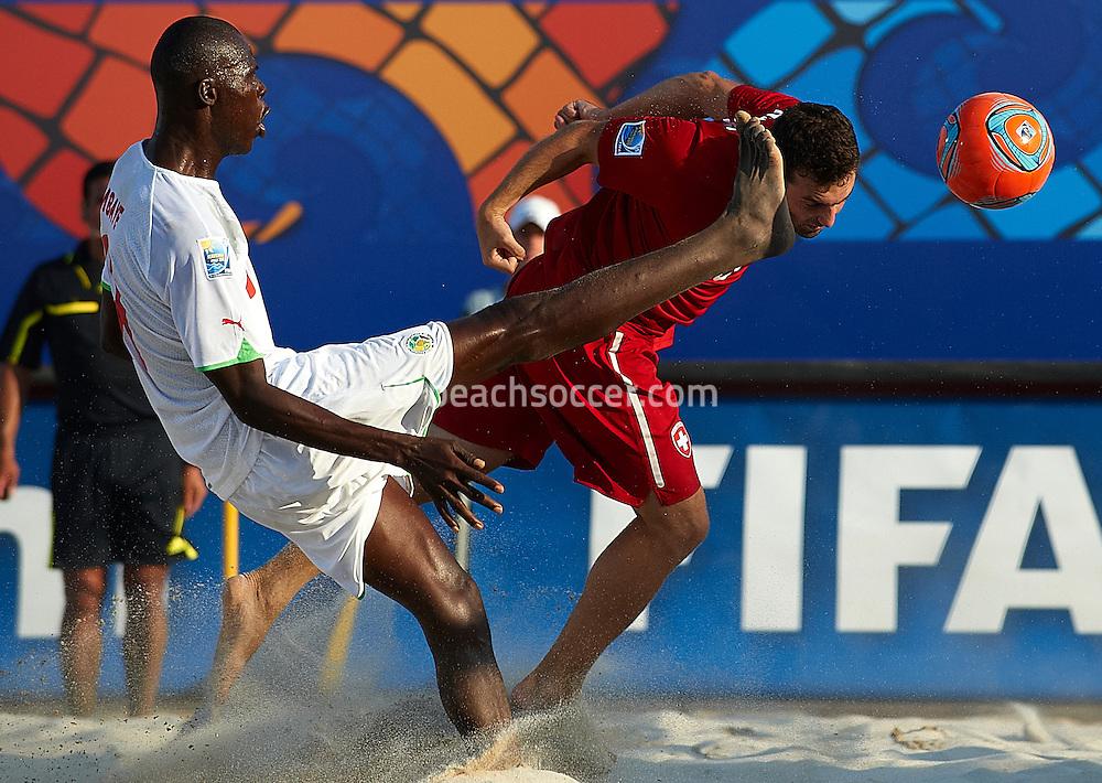 RAVENNA, ITALY - SEPTEMBER 01:  FIFA Beach Soccer World Cup at the Stadium del Mare on September 1, 2011 in Ravenna, Italy. (Photo by Manuel Queimadelos)
