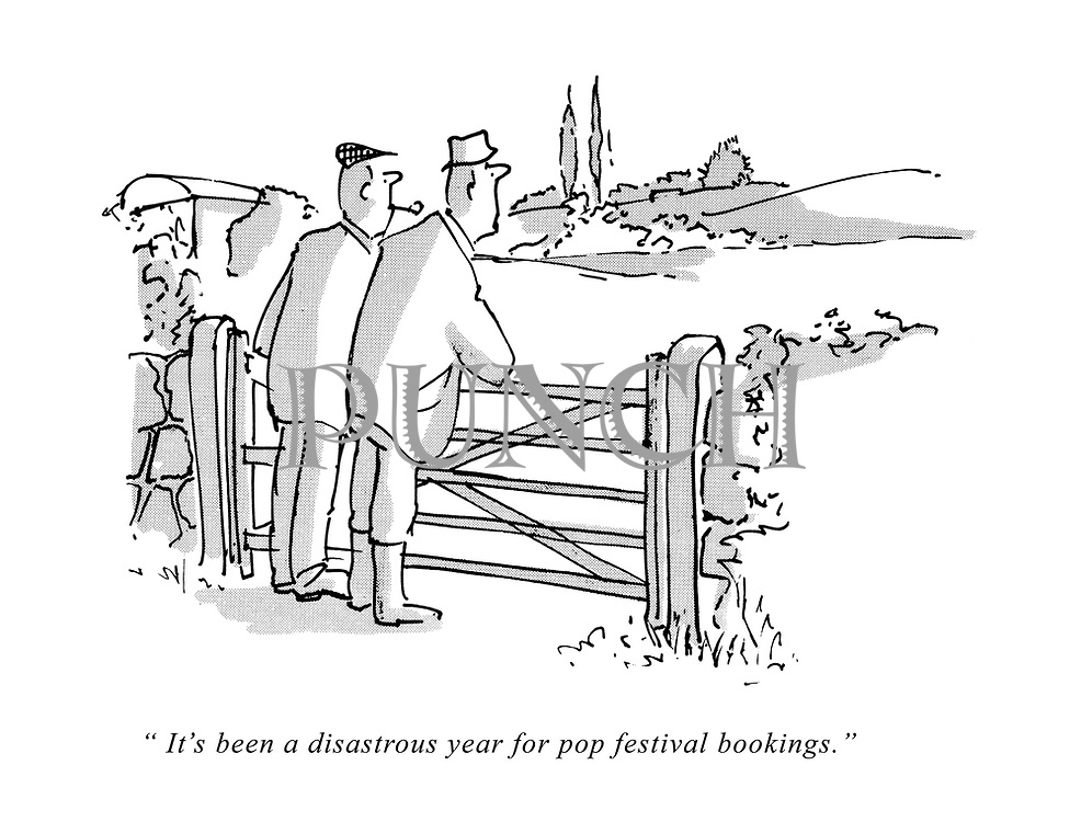 """It's been a disastrous year for pop festival bookings."""