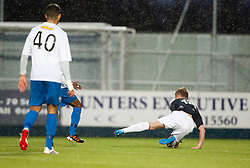 Falkirk's Craig Sibbald brought down for their second penalty.<br /> Falkirk 1 v 1 Morton, Scottish Championship game today at The Falkirk Stadium.<br /> © Michael Schofield.