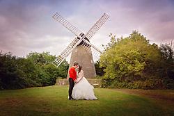 Bride and Groom at Bradwell Windmill, Milton Keynes