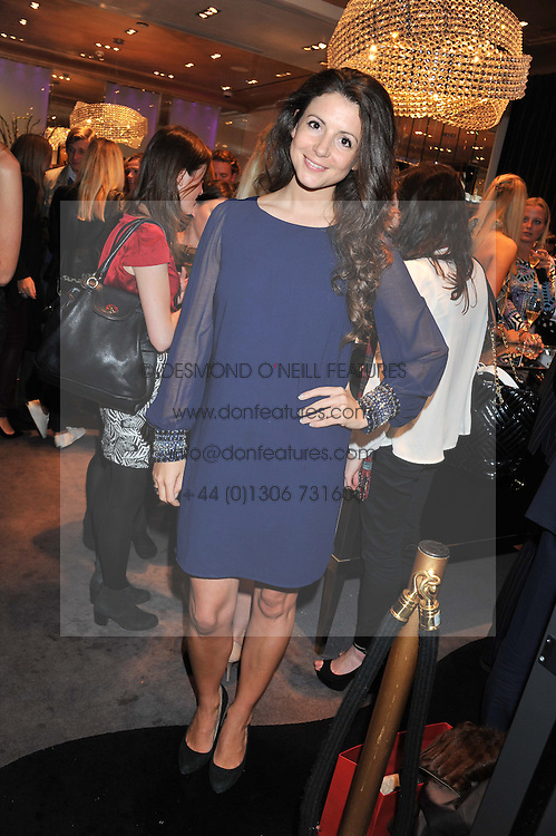 SHIRLEY LEIGH-WOOD OAKES at a private view of an exhibition 'Outside in Chelsea' held at Annoushka, 41 Cadogan Gardens, London SW3 on 2nd October 2012.