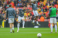 Wolverhampton Wanderers defender Jonny (19) warms up during the The FA Cup semi-final match between Watford and Wolverhampton Wanderers at Wembley Stadium, London, England on 7 April 2019.