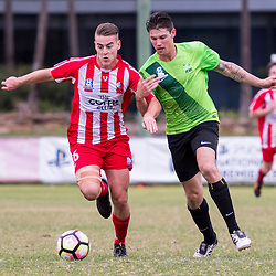 BRISBANE, AUSTRALIA - MAY 15:  during the NPL Queensland Senior Men's Round 10 match between Olympic FC and Northern Fury at Goodwin Park on MAY 15, 2017 in Brisbane, Australia. (Photo by Patrick Kearney/Olympic FC)