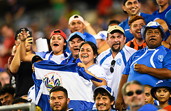July 19, 2017 - Philadelphia, PA, USA - Philadelphia, PA - Wednesday July 19, 2017: El Salvadorian supporters during a 2017 Gold Cup match between the men's national teams of the United States (USA) and El Salvador (SLV) at Lincoln Financial Field. (Credit Image: © Brad Smith/ISIPhotos via ZUMA Wire)