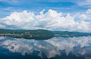 Overlook over Corner Brook, Bay of islands, Newfoundland, Canada