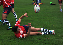 Leonardo Sarto of Bristol Bears United in warm-up - Mandatory by-line: Paul Knight/JMP - 02/12/2018 - RUGBY - Clifton RFC - Bristol, England - Bristol Bears United v Harlequins - Premiership Rugby Shield