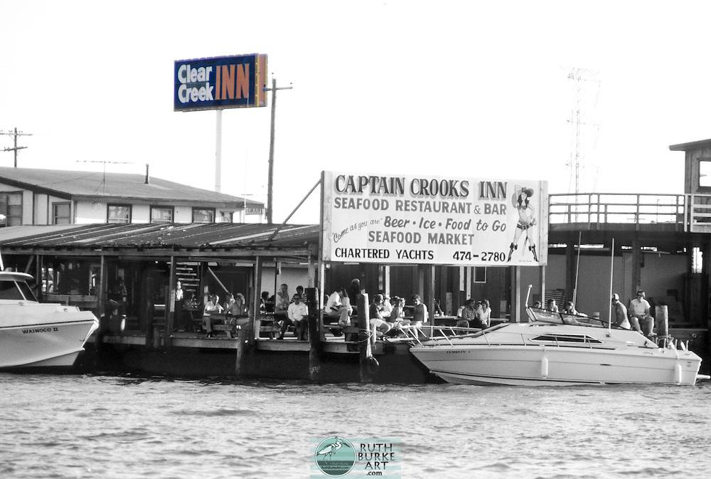 1983 Clear Creek Inn sign in Kemah