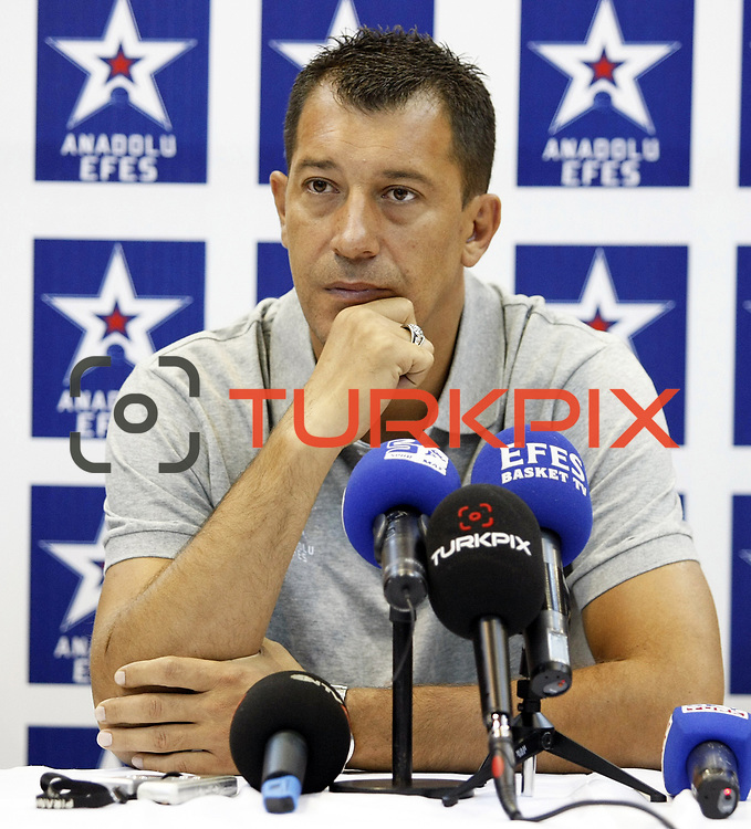 Turkish Basketball team Anadolu Efes's head coach Ufuk SARICA during their press conference at Anadolu Efes sports hall in Istanbul Turkey on Tuesday 23 August 2011. Photo by TURKPIX