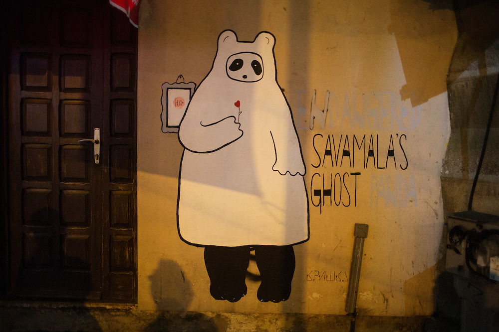 Street art.<br /> <br /> Savamala neighborhood of Belgrade, Serbia.