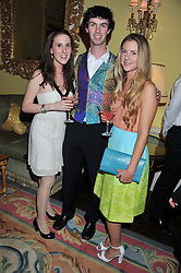 Left to right, ALEXIA GENTA, GUY MASON and CASEY YORK at Tatler's Jubilee Party in association with Thomas Pink held at The Ritz, Piccadilly, London on 2nd May 2012.