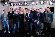 Presentatie van de nieuwe programmering van Radio Veronica. <br /> <br /> Op de foto:  v.l.n.r.: Juri Verstappen , Martijn Zuurveen , Kees Baar , Jeroen van Inkel , Rick van Velthuysen , Nicky Verhage , Michael Blijleven , Erik de Zwart , Patrick Kicken , Bart van Leeuwen , Alex Oosterveen , Dennis Hoebee  en Martijn Muijs