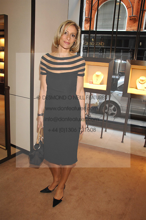 News reader EMILY MAITLIS at a party to celebrate the publication of 'Young Stalin' by Simon Sebag-Montefiore at Asprey, New Bond Street, London on 14th May 2007.<br /><br />NON EXCLUSIVE - WORLD RIGHTS