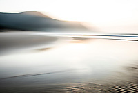 The Groot Estuary mouth as it flows into the sea, Garden Route National Park, South Africa