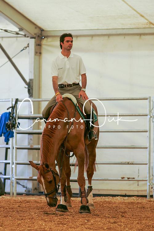 Pessoa Rodrigo, BRA, Baloubet du Rouet<br /> World Cup Final Jumping - Las Vegas 2005<br /> © Hippo Foto - Dirk Caremans