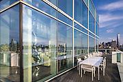 Penthouse, 165 Charles Street NYC. Richard Meier, architect.