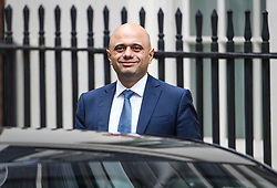 © Licensed to London News Pictures. 03/10/2019. London, UK. Chancellor SAJID JAVID is seen leaving downing street in Westminster, London. British Prime Minister Boris Johnson has sent a new Brexit proposal to the EU ahead of an EU summit later this month. Photo credit: Ben Cawthra/LNP