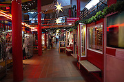 Kiruna, Lapland, Sweden, is the northernmost city in Sweden interior of an indoor shopping centre