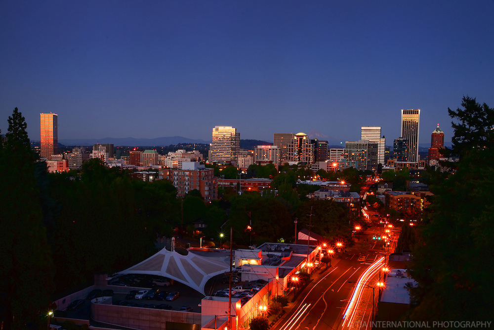Portland Skyline @ Sunset