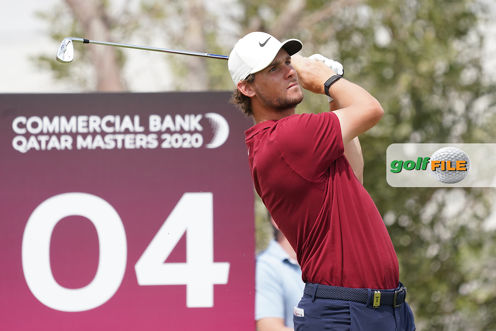 Thomas Pieters (BEL) during the final round of the Commercial Bank Qatar Masters 2020, Education City Golf Club , Doha, Qatar. 08/03/2020<br /> Picture: Golffile | Phil Inglis<br /> <br /> <br /> All photo usage must carry mandatory copyright credit (© Golffile | Phil Inglis)
