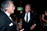 SIR DAVID TANG; RICHARD CARING, The Ormeley dinner in aid of the Ecology Trust and the Aspinall Foundation. Ormeley Lodge. Richmond. London. 29 April 2009