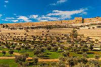 Eastern Wall of the Temple Mount (Mount Mariah), Jerusalem, Israel.