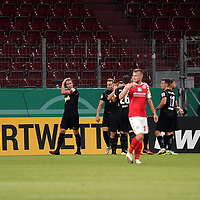 11.09.2020, Opel Arena, Mainz, GER, DFB-Pokal, 1. Runde TSV Havelse vs 1. FSV Mainz 05<br /> , im Bild<br />Noah Plume (Havelse) freut sich über das Tor zum 1:0<br /> <br /> Foto © nordphoto / Bratic