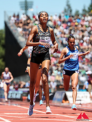 Sifan Hassan, Nike Oregon Project, Netherlands, wins womens 3000 meters, 8:18.49, world-leading time, also meet and Diamond League record, 2019 The Prefontaine Classic Track & Field<br /> IAAF Diamond League