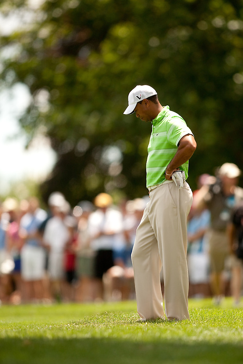 NEWTOWN SQUARE, PA - JULY 2: Tiger Woods during the second round of the AT&T National Classic at Aronimink Golf Club on July 2, 2010 in Newtown Square, Pennsylvania. (Photo by Darren Carroll) *** Local Caption *** Tiger Woods