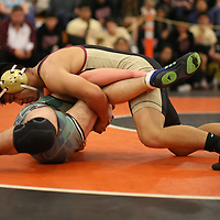Sammy Ramirez of Cupertino wins the Championship in the 2018 SCVAL Wrestling Finals(152 lb)(Photo by Bill Gerth)