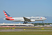 N772AN American Airlines, Boeing 777 at Malpensa airport, Milan, Italy