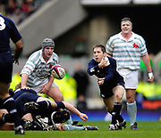 Twickenham. GREAT BRITAIN, Kevin BRENNAN. passing the ball from behind the scrum, during the 2006 Varsity Rugby Match at Twickenham Stadium, England 12.12.2006. [Photo, Peter Spurrier/Intersport-images] Sponsor, Lehman Brothers,