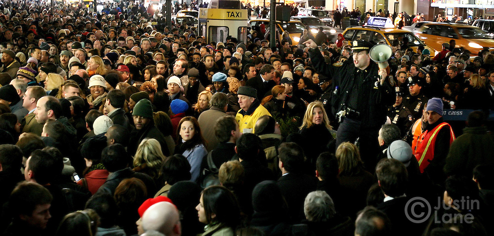 New York City Transit workers walked off the job during the week before Christmas 2005 in the midst of a contract dispute. The city faced a compete shut down of the transit system, which normally moves millions of people each day.