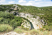 Gorges de l'Ardèche The Ardeche River gorge, Provence, France