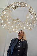 Nadja Swarovski - Tord Boontje / Swarovski presents 'Luminous Reflections' including a chandelier with the world's first-ever unfaceted crystal components - The Design Frontiers exhibition at Somerset house, part of the London Design Festival.