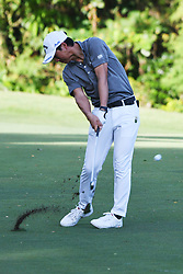 SINGAPORE, Jan. 17, 2019  Japan's player Ryo Ishikawa competes during the first day of competition at the SMBC Singapore Open held in Singapore's Sentosa Golf Club on Jan 17, 2019. (Credit Image: © Then Chih Wey/Xinhua via ZUMA Wire)
